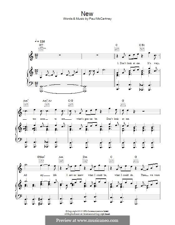 New: Для голоса и фортепиано (или гитары) by Paul McCartney