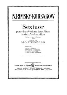 Секстет ля мажор: Партия I виолончели by Николай Римский-Корсаков