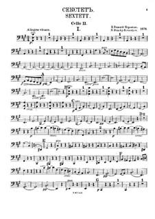 Секстет ля мажор: Партия II виолончели by Николай Римский-Корсаков