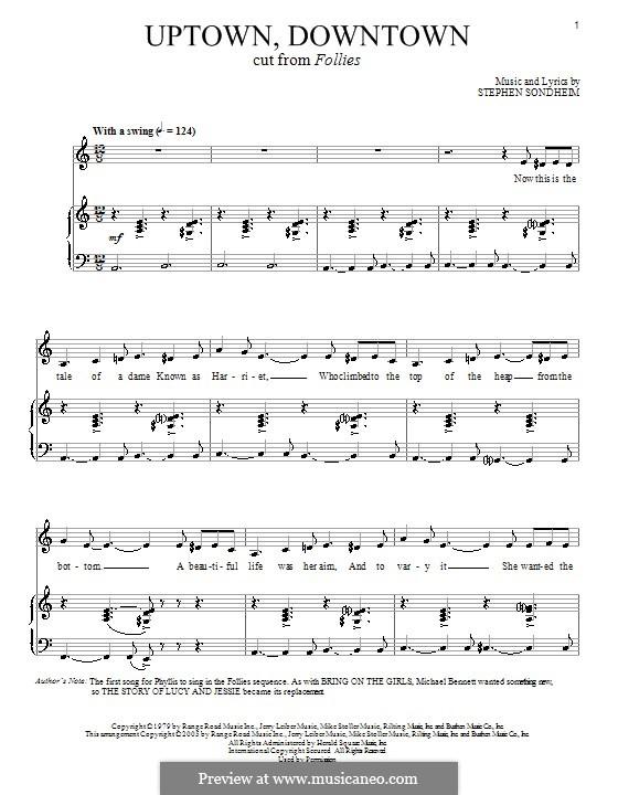 Uptown, Downtown: Для голоса и фортепиано by Stephen Sondheim