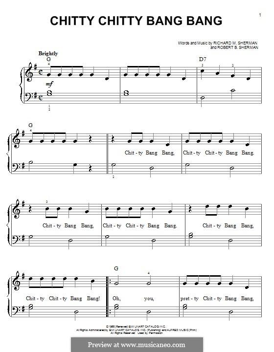 Chitty Chitty Bang Bang: Для фортепиано by Richard M. Sherman, Robert B. Sherman