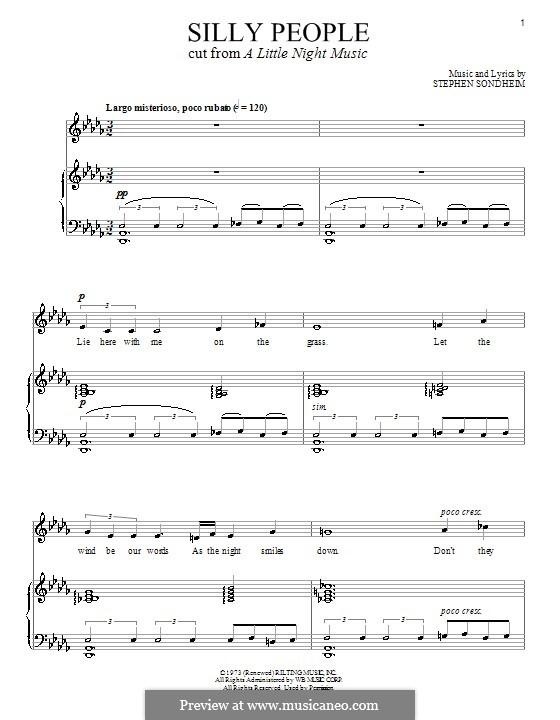 Silly People: Для голоса и фортепиано by Stephen Sondheim