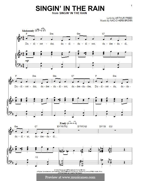 Singin' in the Rain (Gene Kelly): Для голоса и фортепиано by Nacio Herb Brown
