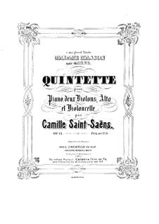 Фортепианный квинтет ля минор, Op.14: Партитура by Камиль Сен-Санс