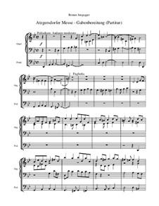 Atzgersdorfer Messe: Nr.7 Gabenbereitung (Gesamtpartitur) by Roman Jungegger