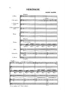 Серенада ми-бемоль мажор, Op.15: Для оркестра by Камиль Сен-Санс