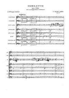 Оделетта, Op.162: Партитура by Камиль Сен-Санс