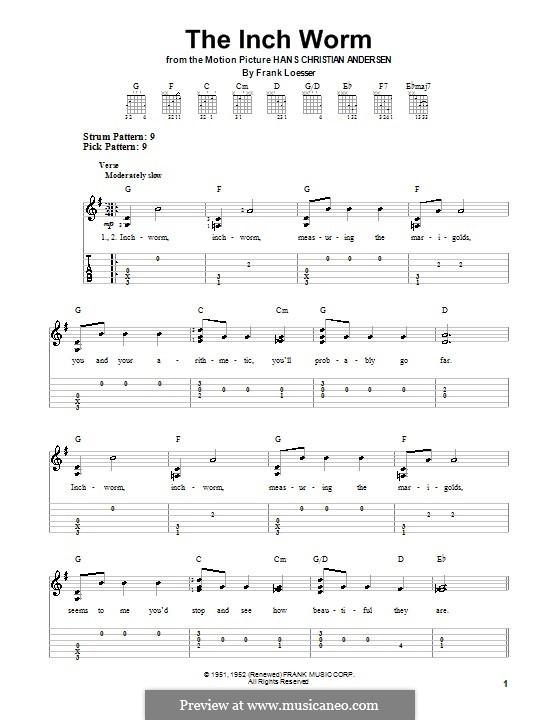 The Inch Worm (Paul McCartney): Для гитары с табулатурой by Frank Loesser