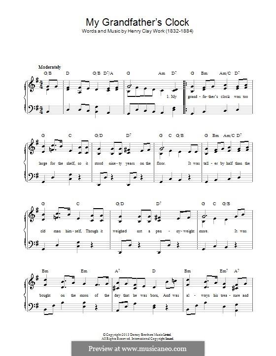 Grandfather's Clock: Для фортепиано by Henry Clay Work