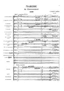 Коронационный марш, Op.117: Партитура by Камиль Сен-Санс