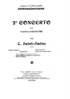 Концерт для фортепиано с оркестром No.2 соль минор, Op.22: Часть I. Версия для фортепиано by Камиль Сен-Санс