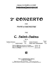 Концерт для фортепиано с оркестром No.2 соль минор, Op.22: Партитура by Камиль Сен-Санс