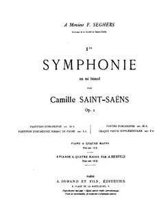 Симфония No.1 ми-бемоль мажор, Op.2: Партитура by Камиль Сен-Санс