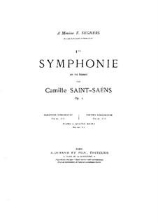 Симфония No.1 ми-бемоль мажор, Op.2: Для фортепиано в 4 руки by Камиль Сен-Санс