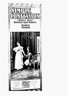 Simple Confession, Op.25: Для фортепиано by Франсис Томе