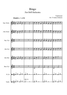 Bingo: For orff orchestra by folklore