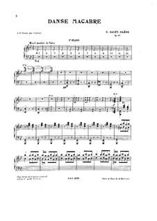 Пляска смерти, Op.40: Для двух фортепиано в четыре руки – Партия второго фортепиано by Камиль Сен-Санс