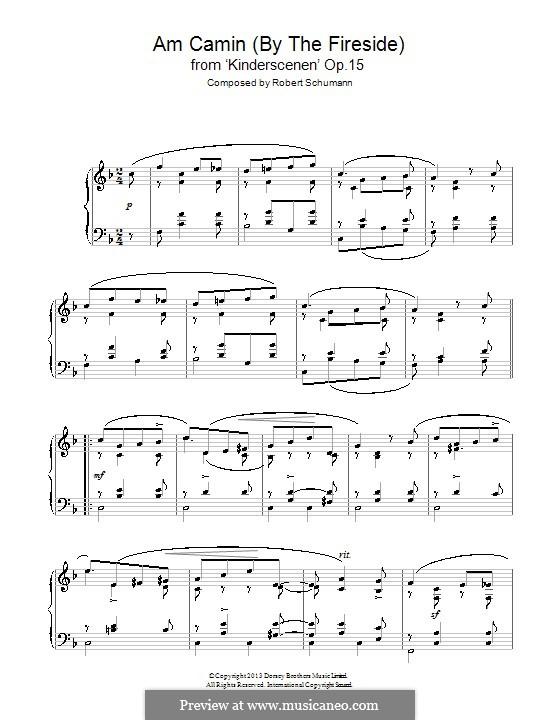 No.8 У камина: Для фортепиано by Роберт Шуман