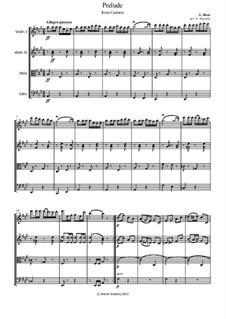 Избранные темы: Prelude, for string quartet by Жорж Бизе