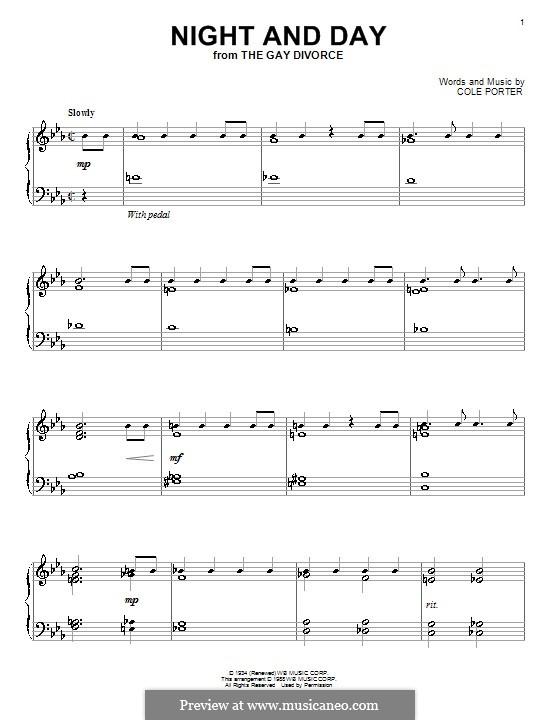 Night and Day (Frank Sinatra): Для фортепиано by Кол Портер
