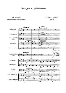 Аллегро аппассионато, Op.43: Партитура by Камиль Сен-Санс