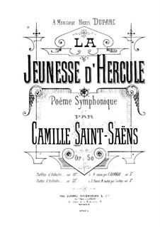 Юность Геракла, Op.50: Партитура by Камиль Сен-Санс