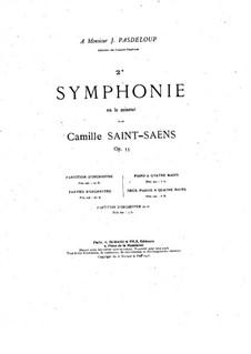 Симфония No.2 ля минор, Op.55: Для двух фортепиано в 4 руки by Камиль Сен-Санс