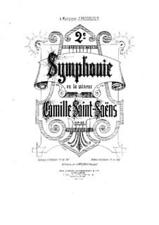Симфония No.2 ля минор, Op.55: Для фортепиано в 4 руки by Камиль Сен-Санс