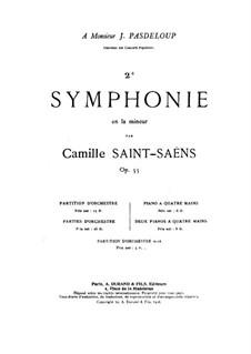 Симфония No.2 ля минор, Op.55: Партитура by Камиль Сен-Санс