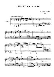 Менуэт и вальс, Op.56: Для фортепиано by Камиль Сен-Санс
