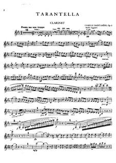 Тарантелла ля минор, Op.6: Партия кларнета by Камиль Сен-Санс
