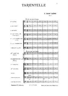 Тарантелла ля минор, Op.6: Партитура by Камиль Сен-Санс