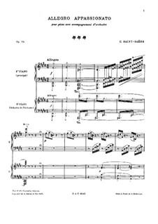 Аллегро аппассионато, Op.70: Для двух фортепиано в четыре руки by Камиль Сен-Санс