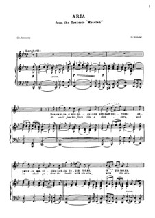 No.20 He Shall Feed His Flock : Для голоса и фортепиано by Георг Фридрих Гендель