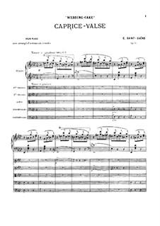 Свадебный пирог. Вальс-каприс, Op.76: Партитура by Камиль Сен-Санс