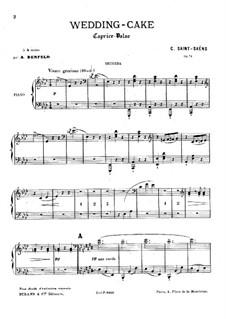 Свадебный пирог. Вальс-каприс, Op.76: Для фортепиано в 4 руки by Камиль Сен-Санс