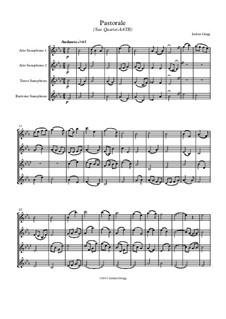 Pastorale: For sax quartet AATB by Jordan Grigg