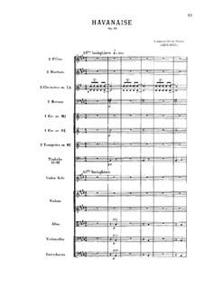 Хаванез, Op.83: Партитура by Камиль Сен-Санс