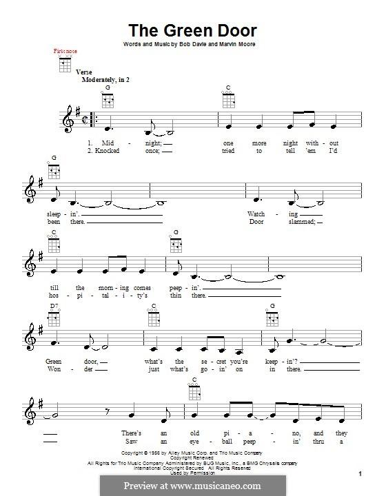 The Green Door (Jim Lowe): Для укулеле by Bob Davie, Marvin Moore