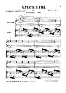 Шесть дуэтов для фисгармонии и фортепиано, Op.8: No.1 Фантазия и фуга by Камиль Сен-Санс