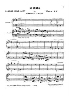 Шесть дуэтов для фисгармонии и фортепиано, Op.8: No.5 Скерцо by Камиль Сен-Санс
