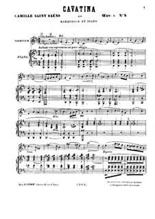 Шесть дуэтов для фисгармонии и фортепиано, Op.8: No.2 Каватина by Камиль Сен-Санс