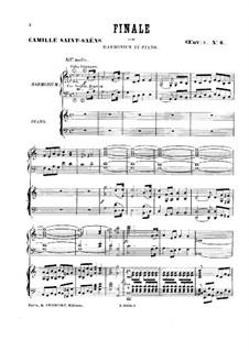 Шесть дуэтов для фисгармонии и фортепиано, Op.8: No.6 Финал by Камиль Сен-Санс