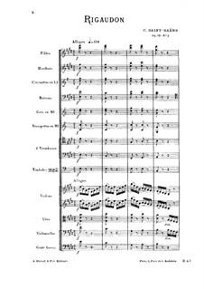 Сарабанда и ригодон, Op.93: No.2 Ригодон by Камиль Сен-Санс