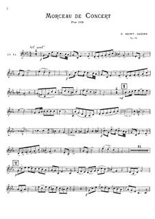 Концертная пьеса для валторны с оркестром, Op.94: Сольная партия by Камиль Сен-Санс