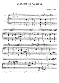 Концертная пьеса для валторны с оркестром, Op.94: Версия для валторны и фортепиано by Камиль Сен-Санс