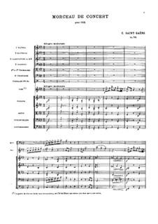 Концертная пьеса для валторны с оркестром, Op.94: Партитура by Камиль Сен-Санс