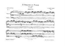 Три прелюдии и фуги, Op.99: No.1 ми мажор by Камиль Сен-Санс