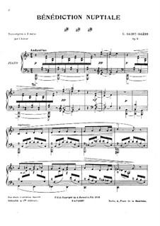 Bénédiction nuptiale, Op.9: Для фортепиано by Камиль Сен-Санс