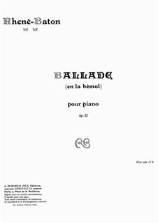 Ballada (en la bémol), Op.22: Ballada (en la bémol) by Эммануэль Рене-Батон